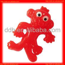 Plastic small sticky Monkey toy/small plastic animal toy