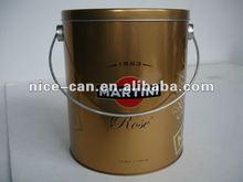 Factory Price round popcorn tin box with handle