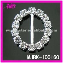 round wedding rhinestone ribbon invitation buckle ladies shoes buckle MJBK-100160