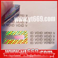 Rainbow Dot matrix void tamper evident sticker