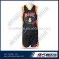 Profesional de sublimación de los uniformes del baloncesto/baloncesto personalizado top mayorista