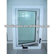 safty window,pvc window with chain winder hardware.