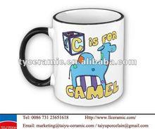 keramik werbegeschenk kamel becher