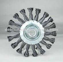 twist steel wire wheel, wire brush, polishing wire wheel