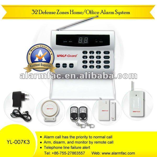 Más nuevo de OEM / ODM sensor del sistema de alarma gsm auto dial sistema de alarma YL--007K3