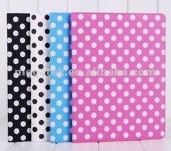 Tablet case Polka dot super slim folio leather case for ipad 2 3 4 air mini