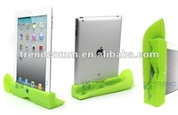 special design! horn stand case for new ipad with soft hand feeling