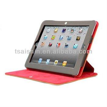 New design Genuine Leather for iPad 2/3 Case