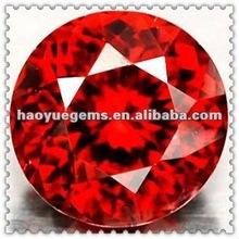 13mm round red cubic zirconia/synthetic gemstones/lab created diamonds