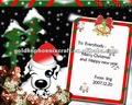 рождество и новый год бумаги поздравительную открытку
