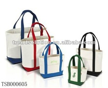 trendy short strap cotton tote shopping bag 2013