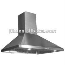 Baffle filter chimney hood