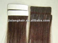 seamless AAA Grade 100% remy human hair PU skin weft PU weaving natural straight full hand tied pu skin weft