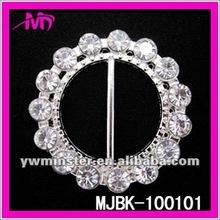 2013 Fashion delicate rhinestone flower buckle for dress