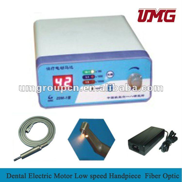 Dental motor eléctrico de baja velocidad pieza de mano de fibra óptica / equipo Dental