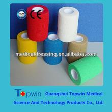 Elastic self-adhesive bandage,red,yellow,white,brown,green,blue