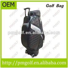 OEM PU Golf bags With Wheels