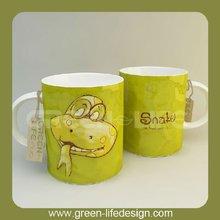 Funny animal -Snake pattern porcelain recordable greeting mug