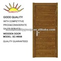 Natural folheado de madeira pintura plana Design da porta SC-W008
