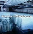 industrial de gelo do bloco que faz a planta