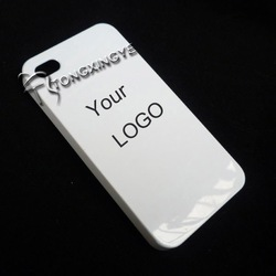 2013, plain plastic housing for iphone 4 s case,own logo