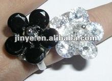 Fashoin Bling Bling White Zircon Gemstone Jewelry Diamond Ring