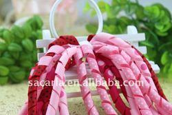 ribbon wrapped metal hair headbands