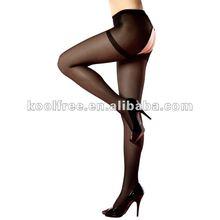 Girls Compression Nylon Open Crotch Tights