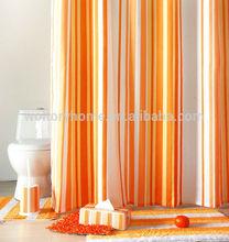 Bathroom/hoteL/bath/washroom/indoor fashionable style Printed stripe shower curtain