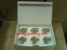 paper cupcake box/container with insert