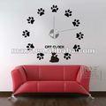 popular para el hogar decoración en 3d grande tamaño de reloj de pared etiqueta de la pared del reloj