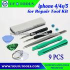 iPhone 4G/4S/iphone5 Mobile for Repair Tool Kit (9pcs)
