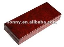 Classical bur wood single pen box