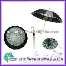 paper printed umbrella print umbrella manual open