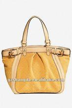 Yellow color 2012 new design fashion handbag/lady bag