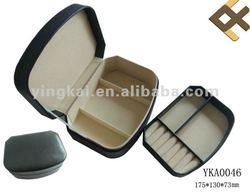 2014 newest designed plain faux leather plastic jewelry case