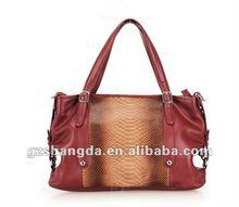 2012 Snake styple PU fashion handbag / women bag