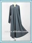 Latest shift loose long sleeve maxi dress muslim
