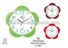 New Style Flower Shape Simple Wall Clock(E5)