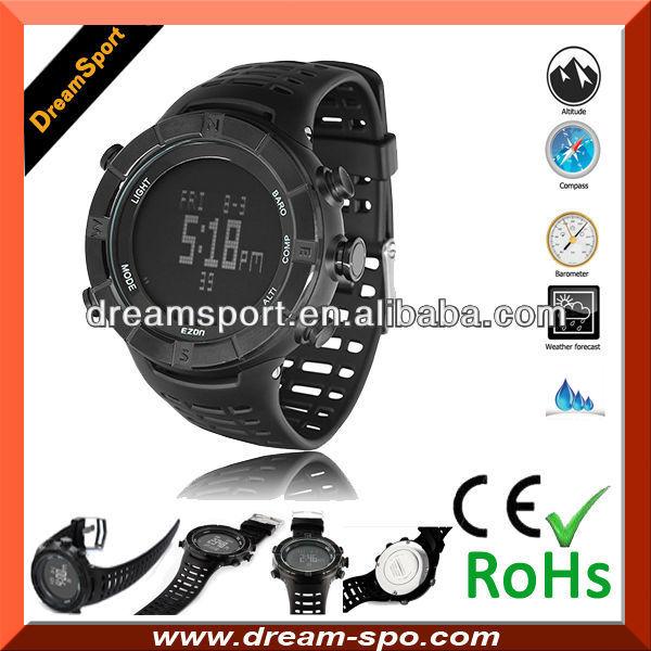 自転車の 自転車 心拍数 時計 : Altimeter Barometer Compass Thermometer Watch