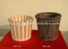 handmade antique wooden bucket,wooden water bucket for sale