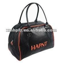 2012 black color pu leather luggage bag