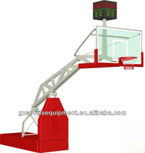 Electric hydraulic basketball stand/system/hoops