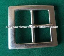 40mm zinc-alloy silver fashion metal man pin belt buckle