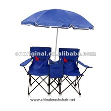 folding Beach Double Chair With Umbrella