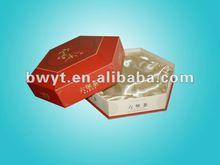 Unique design Paper Package for tea/red color six point paper box