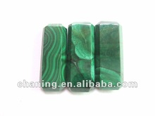 High quality gemstone faceted malachite rectangle beads