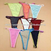 0.10USD Ladies Sexy Stock Cheap Cotton G string Thongs, Women G-string Underwear (kcnk023)
