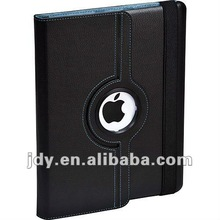 Whole-sale 360 degree rotating magnetic leather stand case for ipad