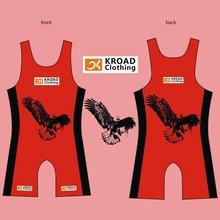 2012 printed wrestling singlets breathable wrestling wear